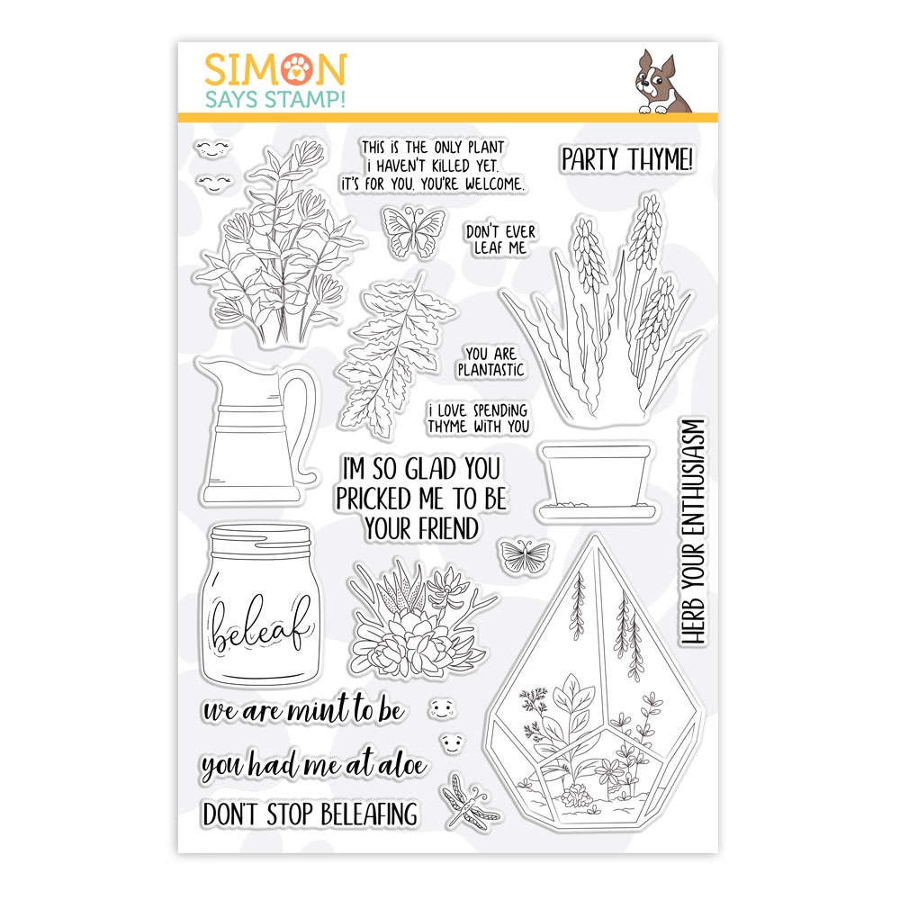 Simon Says Clear Stamps PLANTIFUL PUNS sss101863 Friendly Frolic zoom image