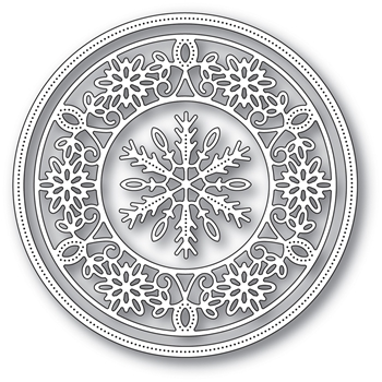 Memory Box PINPOINT SNOWFLAKE CIRCLE FRAME Craft Die 94030