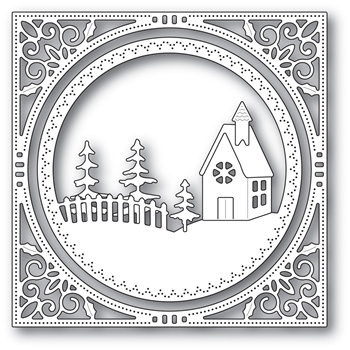 Memory Box COUNTRY CHURCH FRAME Craft Die 94038