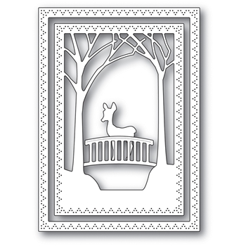 Memory Box WOODLAND BRIDGE FRAME Craft Die 94039