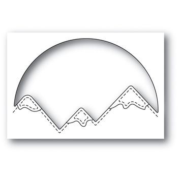 Memory Box SNOWCAPPED MOUNTAIN CIRCLE Craft Die 94047
