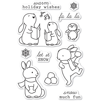 Memory Box Clear Stamps SNOW MUCH FUN Open Studio cl5224