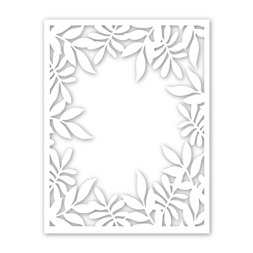 Simon Says Stamp LEAFY FRAME Wafer Dies sssd111859 Friendly Frolic Preview Image