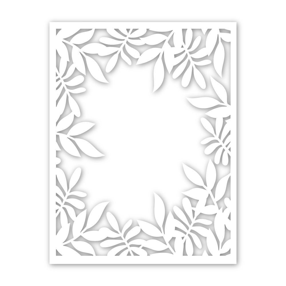 Simon Says Stamp LEAFY FRAME Wafer Dies sssd111859 Friendly Frolic zoom image