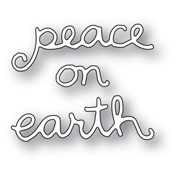 Memory Box PEACE ON EARTH DOODLE SCRIPT POPPY STAMPS Craft Die 2089
