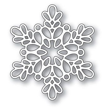 Memory Box SEED SNOWFLAKE OUTLINE POPPY STAMPS Craft Die 2097