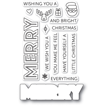 Memory Box MERRY EVERYTHING POPPY STAMPS Die and Stamp Set cl465