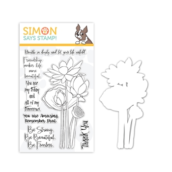 Simon Says Stamps And Dies SKETCH LOTUS FLOWERS set328slf Friendly Frolic