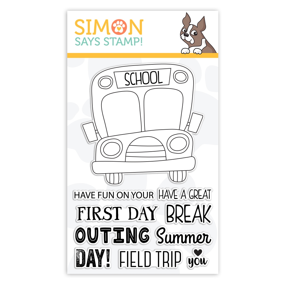 Simon Says Stamps SCHOOL BUS MESSAGES