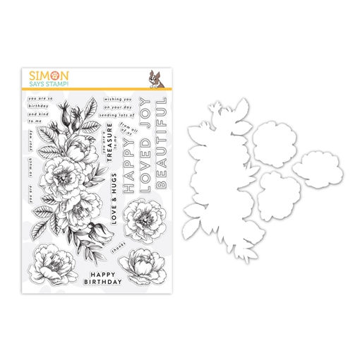 Simon Says Stamps And Dies BEAUTIFUL FLOWERS set330bf Friendly Frolic Preview Image