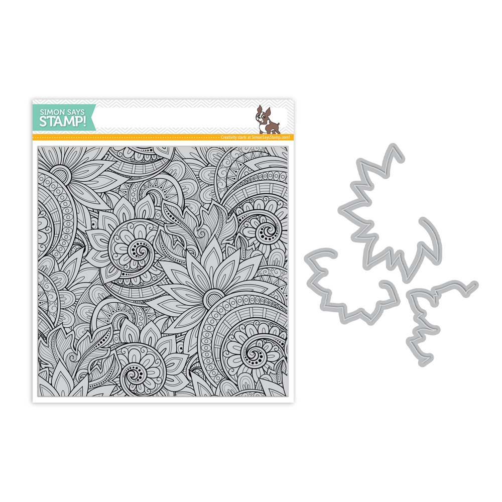 Simon Says Stamps And Dies ORNATE BACKGROUND set331ob Friendly Frolic zoom image