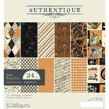 Authentique 6 x 6 NIGHTFALL Paper Pad ngt010