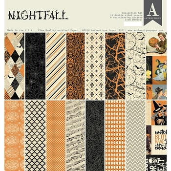 Authentique NIGHTFALL 12 x 12 Collection Kit ngt011