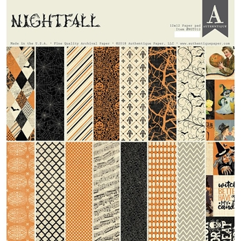 Authentique NIGHTFALL 12 x 12 Paper Pad ngt012