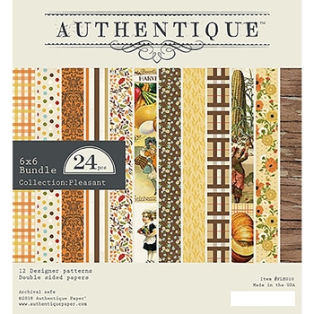 Authentique 6 x 6 PLEASANT Paper Pad ple010