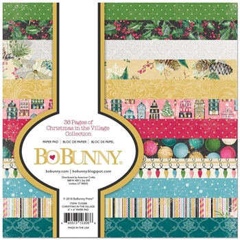 BoBunny 6 x 6 CHRISTMAS IN THE VILLAGE Paper Pad 7310308