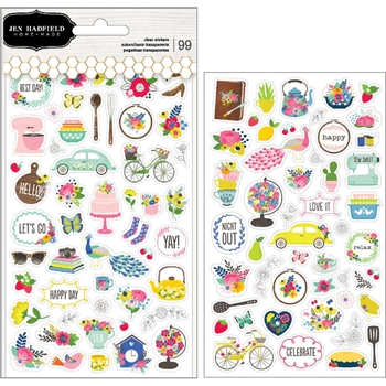Pebbles Inc. Jen Hadfield PHRASE AND ICON Clear Stickers My Bright Life 733889