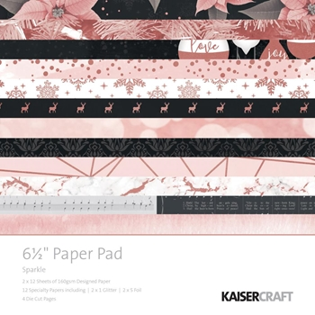 Kaisercraft SPARKLE 6.5 x 6.5 Inch Paper Pad PP1050