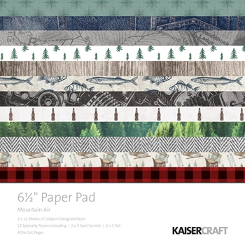 Kaisercraft MOUNTAIN AIR 6.5 x 6.5 Inch Paper Pad PP1049