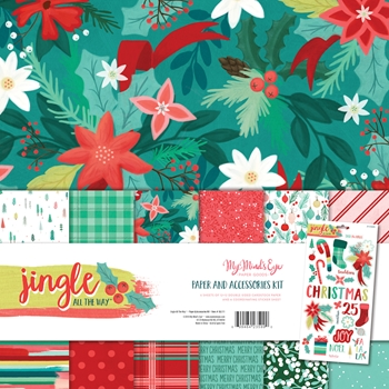 My Mind's Eye JINGLE ALL THE WAY 12 x 12 Paper And Accessories Kit jgl111