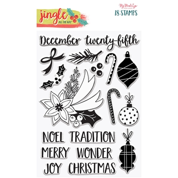 My Mind's Eye JINGLE ALL THE WAY Clear Stamps jgl117