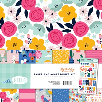 My Mind's Eye WELL HELLO 12 x 12 Paper And Accessories Kit wel111