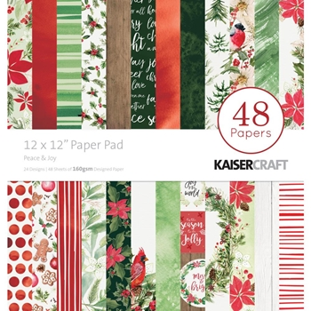 Kaisercraft PEACE AND JOY 12x12 Inch Paper Pad PP252