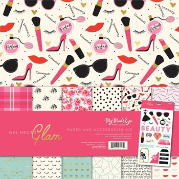 My Mind's Eye GAL MEETS GLAM 12 x 12 Paper And Accessories Kit gmg111