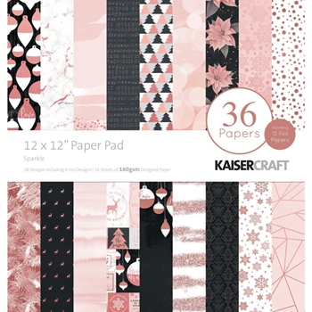 Kaisercraft SPARKLE 12x12 Inch Paper Pad PP250