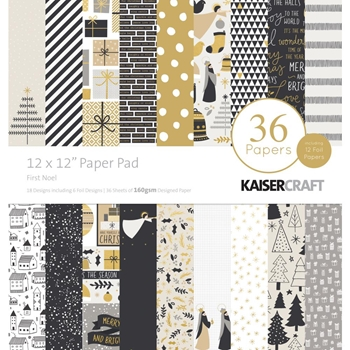 Kaisercraft FIRST NOEL 12x12 Inch Paper Pad PP253