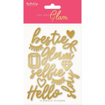 My Mind's Eye GAL MEETS GLAM Acrylic Words gmg119