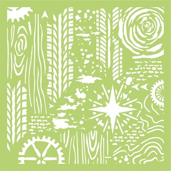 Kaisercraft ADVENTURE 6x6 Inch Designer Stencil Template IT472