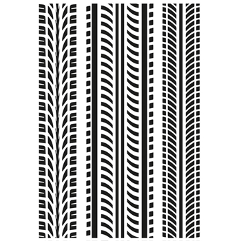 Kaisercraft TIRE TREADS Embossing Folder 4x6 Inches EF288