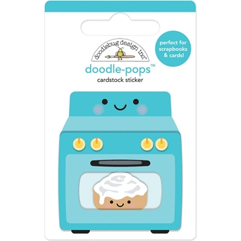 Doodlebug BAKING NEWS Doodle Pops 3D Sticker So Much Pun 6045