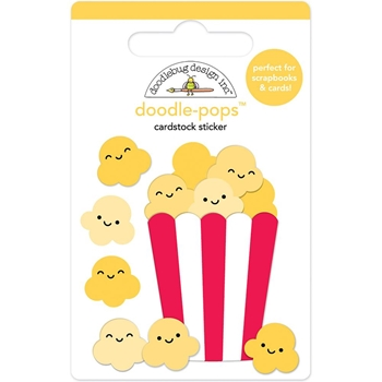 Doodlebug WHAT'S POPPIN' Doodle Pops 3D Stickers So Much Pun 6046