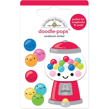 Doodlebug GUM-BELIEVABLE Doodle Pops 3D Stickers So Much Pun 6044