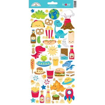 Doodlebug SO MUCH PUN ICONS Cardstock Stickers 6067