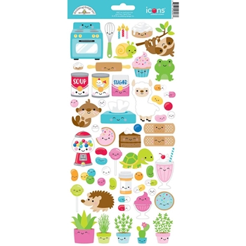 Doodlebug SO MUCH PUN TOO ICONS Cardstock Stickers 6066