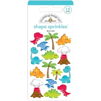 Doodlebug DINO-MITE Shape Sprinkles So Much Pun 6033