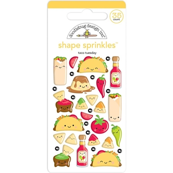 Doodlebug TACO BOUT FUN Shape Sprinkles So Much Pun 6035