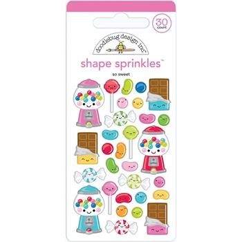 Doodlebug SO SWEET Shape Sprinkles So Much Pun 6036