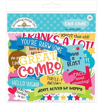 Doodlebug SO MUCH PUN CHIT CHAT Die Cuts Odds and Ends 6056