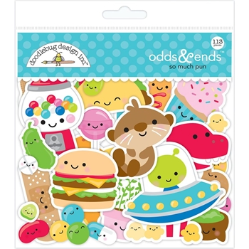 Doodlebug SO MUCH PUN ODDS AND ENDS Die Cut Shapes 6055