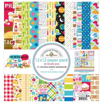 Doodlebug SO MUCH PUN 12x12 Inch Paper Pack 6070