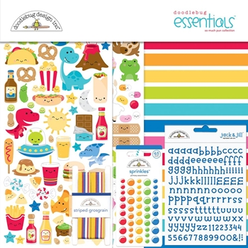 Doodlebug SO MUCH PUN 12x12 ESSENTIALS Page Kit 6071