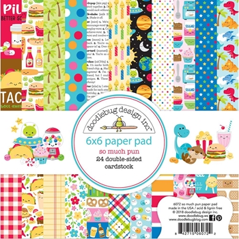 Doodlebug SO MUCH PUN 6x6 Inch Paper Pad 6072