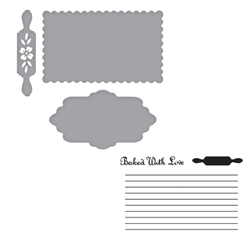 SDS-159 Spellbinders RECIPE CARD Stamp and Die Set