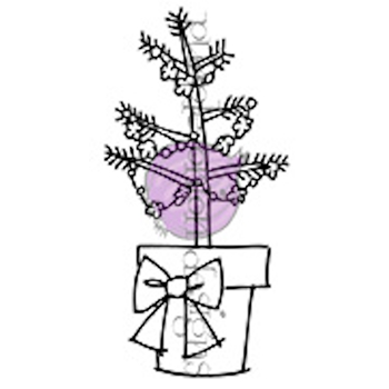 Purple Onion Designs POTTED TREE Cling Stamp pod6000