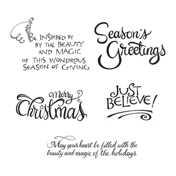 SBS-165 Spellbinders CHRISTMAS SENTIMENTS Cling Stamps