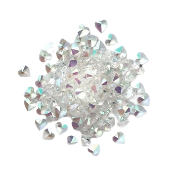 Buttons Galore and More Sparkletz CRYSTAL HEARTS Embellishments SPK115